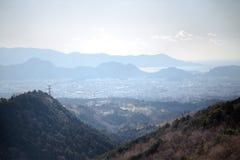 Vista dalla strada allo skywalk di Mishima Fotografie Stock Libere da Diritti