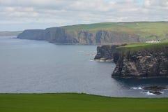 Vista dalla testa di Troup in Scozia Immagini Stock