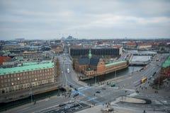 Vista dalla torre di Christiansborg copenhaghen denmark fotografia stock
