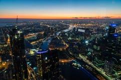 Vista dalla torre di Eureka verso il ponte di Bolte, Melbourne Fotografia Stock Libera da Diritti