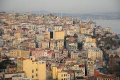 Vista dalla torre di Galata, Turchia Immagini Stock