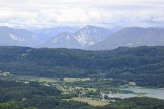 Vista dalla torre di Pyramidenkogel, Austria Fotografia Stock