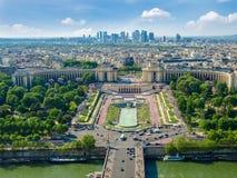 Vista dalla torre Eiffel della parte nordoccidentale di Parigi Fotografia Stock Libera da Diritti