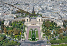 Vista dalla Torre Eiffel su Trocadero Fotografia Stock