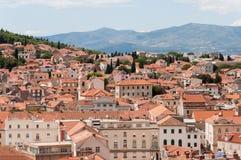 Vista dalla torre nel palazzo di Diocleziano, spaccatura, Croazia Fotografie Stock Libere da Diritti
