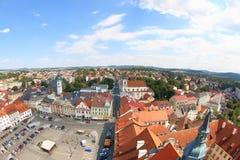 Vista dalla torre nera, Klatovy, repubblica Ceca Immagini Stock