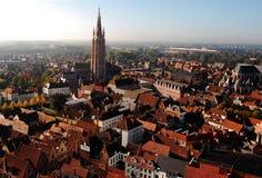 Vista dalla torretta di Bruges Immagini Stock Libere da Diritti