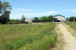 Vista dalla traccia, Brandon Riverbank Discovery Center fotografie stock