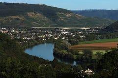 Vista dalla traccia di Mosella in Germania immagini stock