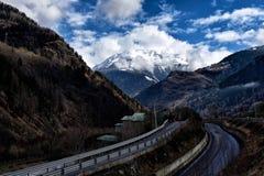 Vista dalla Valtellina, alpi, Italia II Fotografia Stock Libera da Diritti