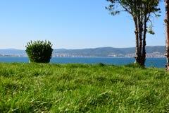 Vista dalla vecchia città Nessebar Fotografia Stock Libera da Diritti