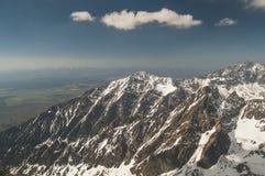 Vista dalla veduta panoramica delle montagne! Immagine Stock Libera da Diritti