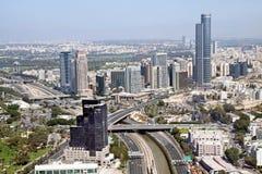 Vista dalle altezze di Diamond Exchange in Ramat Gan, Isra Immagine Stock Libera da Diritti
