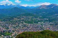 Vista dalle altezze di Lugano, Svizzera Immagine Stock