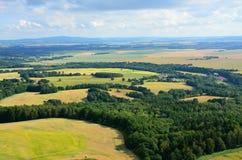 Vista dalle centrali eoliche in repubblica Ceca Fotografie Stock