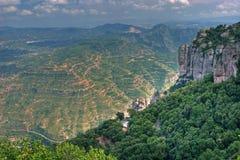 Vista dalle montagne del Montserrat Fotografie Stock