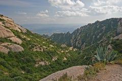 Vista dalle montagne del Montserrat Immagine Stock
