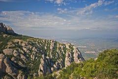 Vista dalle montagne del Montserrat Immagini Stock