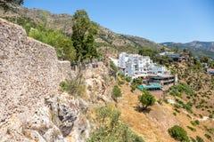 Vista dalle pareti del villaggio di Mijas Immagine Stock
