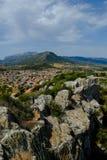Vista dalle rovine del della Fava, posada Sardegna di Castello fotografia stock libera da diritti