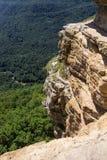 Vista dallo scaffale di Cliff Eagle nella stagione estiva, Mezmay, regione di Krasnodar, Russia Fotografia Stock Libera da Diritti