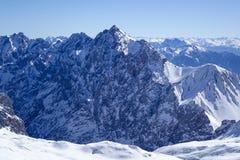 Vista dallo Zugspitze, Germania, Baviera Immagini Stock Libere da Diritti