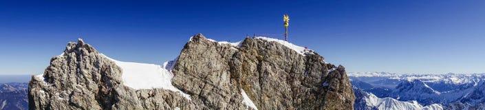 Vista dallo Zugspitze, Germania, Baviera Fotografia Stock Libera da Diritti