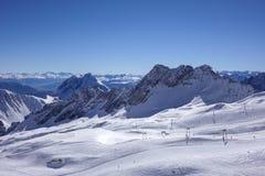 Vista dallo Zugspitze, Germania, Baviera Fotografia Stock