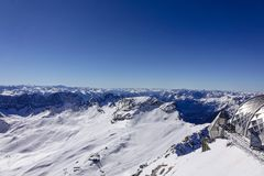 Vista dallo Zugspitze, Germania, Baviera Fotografie Stock