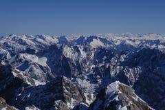 Vista dallo Zugspitze, Germania, Baviera Immagine Stock