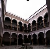 Vista a Dar Mustapha Pacha Palace, Casbah de Argel, Argélia foto de stock