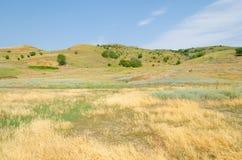 Vista das baixas montanhas fotografia de stock