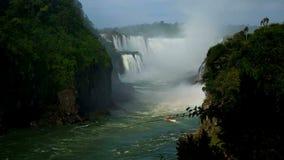 A vista das cachoeiras de foz faz o iguacu em Brasil video estoque
