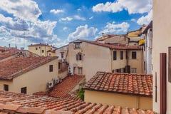 Vista das casas de Florença, Itália foto de stock royalty free