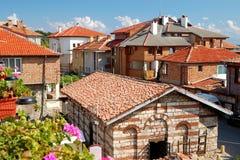 Vista das casas em Nessebar, Bulgária Foto de Stock Royalty Free