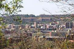 Vista das construções da união, Pretoria foto de stock