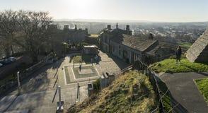 Vista das construções do castelo, Clitheroe Fotografia de Stock Royalty Free