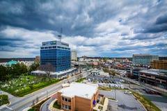 Vista das construções em Towson, Maryland fotografia de stock royalty free