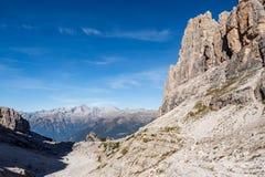 Vista das dolomites de Brenta dos picos de montanha Trentino, Italy imagens de stock royalty free
