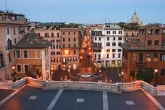 Vista das etapas espanholas Foto de Stock