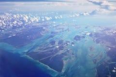 Vista das ilhas chaves fora de Florada imagens de stock royalty free