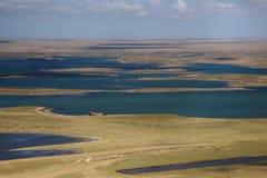 Vista das Ilhas Falkland Fotografia de Stock
