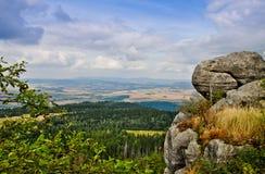 Vista das montanhas da tabela, Polônia Fotos de Stock Royalty Free