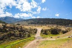 Vista das montanhas de Andes fotos de stock