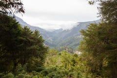 Vista das montanhas de Andes Foto de Stock Royalty Free