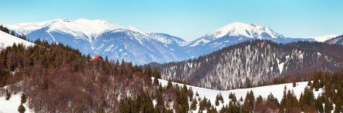 Vista das montanhas de Velka Fatra às montanhas de Mala Fatra Fotos de Stock
