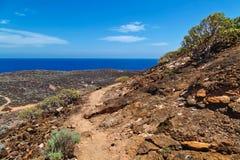 Vista das montanhas e do mar Imagem de Stock Royalty Free