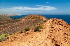 Vista das montanhas e do mar Fotografia de Stock Royalty Free