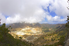 Vista das montanhas e do vulcão de Stefano Fotografia de Stock Royalty Free