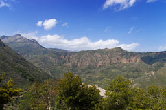 Vista das montanhas em Achaia Foto de Stock